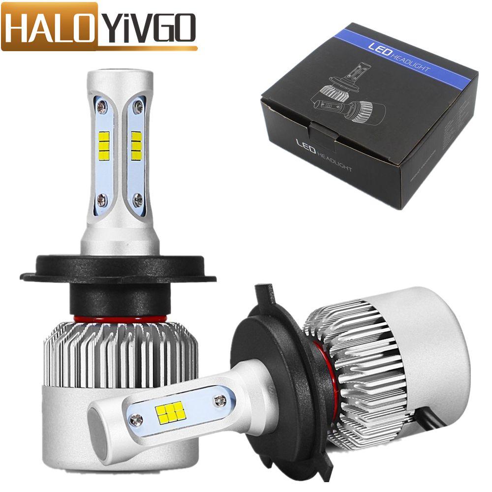 H4 9003 LED Car Headlight Bulb Hi Lo Beam 72W CSP 8000LM All in One Car