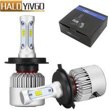 H4 9003 светодиодные лампы фар автомобиля Hi/Lo Луч 72 Вт csp 8000lm все в одном водить автомобиль Фары для автомобиля туман Лампочки Авто Лампы для мотоциклов 6500 К 12 В