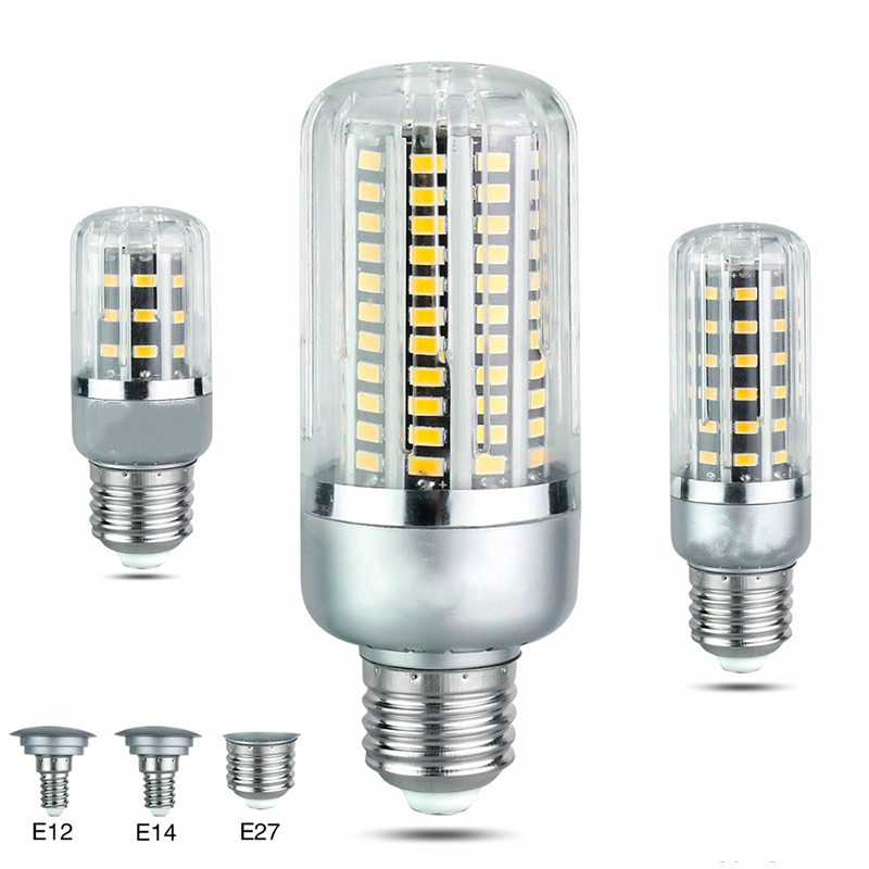 AC85-265V SMD 5736 Lampada LED Corn Bulb Lamp Light 5W 10W 15W 20W 25W LED Spotlight E27 E14 E12 for Home Indoor lighting