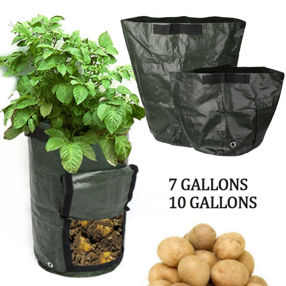 Potato Planter Bags Planting Bag Convenient PE 34*35*1cm Vegetable Outdoor Yard Home Garden