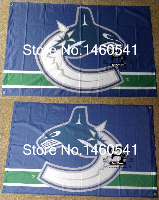 Vancouver Canucks Flag 3ft x 5ft Polyester NHL Banner Vancouver Canucks Flying Size No.4 144* 96cm QingQing Flag