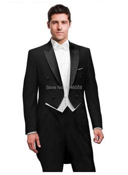 New 2017 Men Suit Costume Homme Groom Prom Suit Men's Black Tuxedos For Men Wedding Dress/Wedding Suits Bridegroom