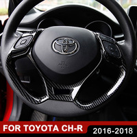 Car Trim Stickers Steering Wheel Cover for Toyota C HR CHR 2016 2017 2018 Interior Mouldings Sequins Sticker Auto Accessories