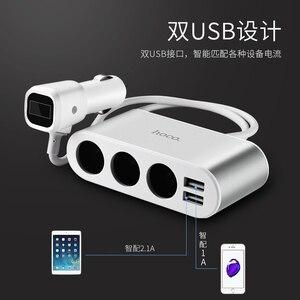 Image 5 - HOCO цифровой дисплей 1 в 3 Автомобильное зарядное устройство для путешествий мобильный телефон двойной Usb разъем Смарт автомобильное зарядное устройство Быстрая зарядка Универсальное зарядное устройство
