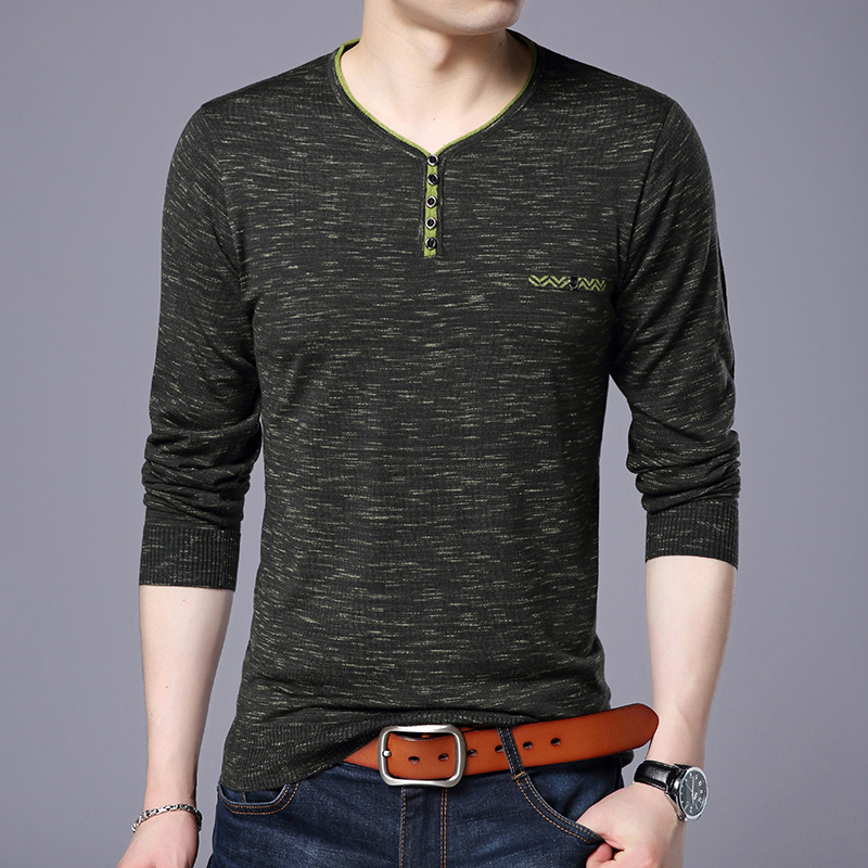 2019 New Thin Fashion Brand Sweater For Mens Pullovers V Neck Slim Fit Jumpers Knitwear Autumn Korean Style Casual Mens Clothes