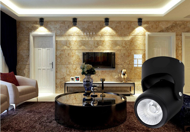 Led downlight montato superficie da incasso illuminazione a led