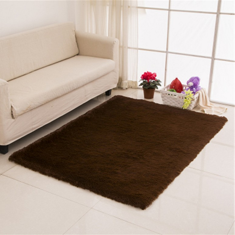 Solid Color Shaggy Indoor Rugs And Carpets For Home Living Room Carpet Kid Area Rug