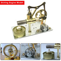 DIY Mini Air Stirling Engine Motor Model Educational Steam Power Toy Electricity Learning Model Toys for Children Adult
