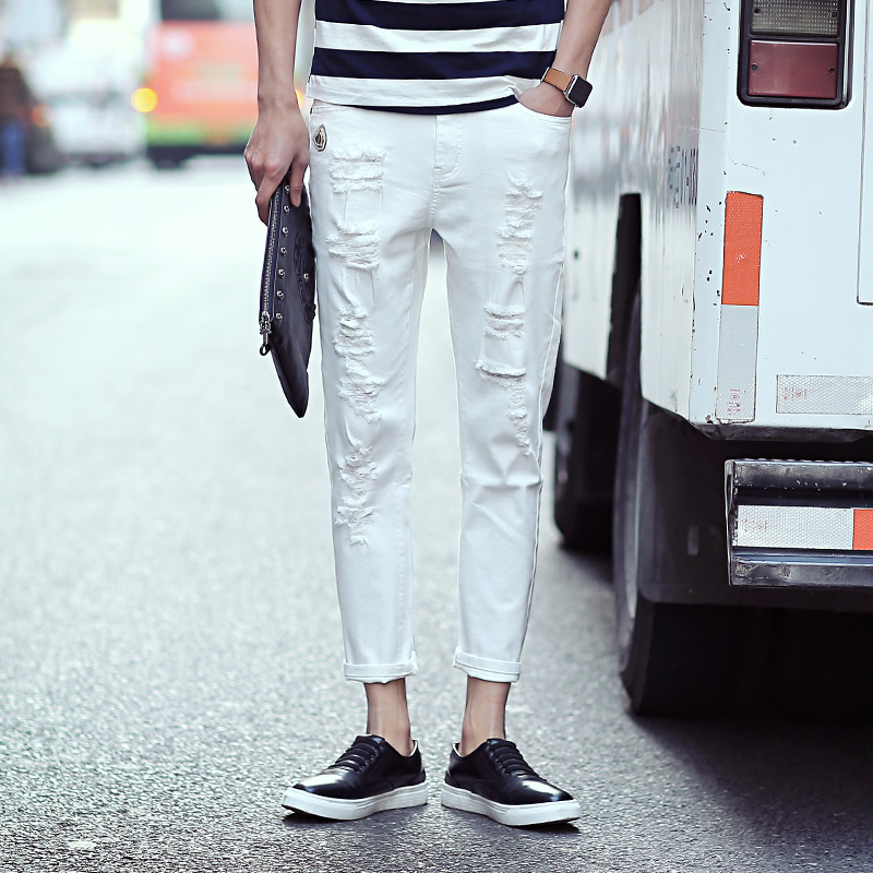 Ripped White Jeans For Men - Xtellar Jeans