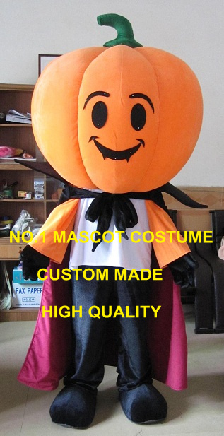 New Halloween Pumpkin Mascot Costume Adult Cartoon Character Hot Sale Halloween Pumpkin Mascotte Fancy Dress Anime Cosply 2012 image