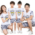New Summer Family Look Matching Clothing camouflage mother daughter father son t shirt Shorts Sets girls boys Family Outfits