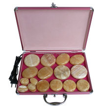 New type! 20pcs/set Hot stone body massager Gong Gade Salon SPA with heater bag n gade rebus op 2a