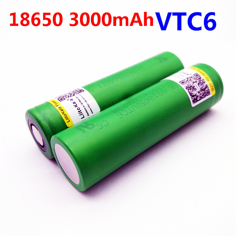 Liitokala VTC6 3.7V 3000mAh rechargeable Li-ion battery 18650 for Sony US18650VTC6 30A Toys flashlight tools with battery box 18650 li ion battery batteria rechargeable cells for lazer pointer strong beam torch toys 9900mah 3 7v