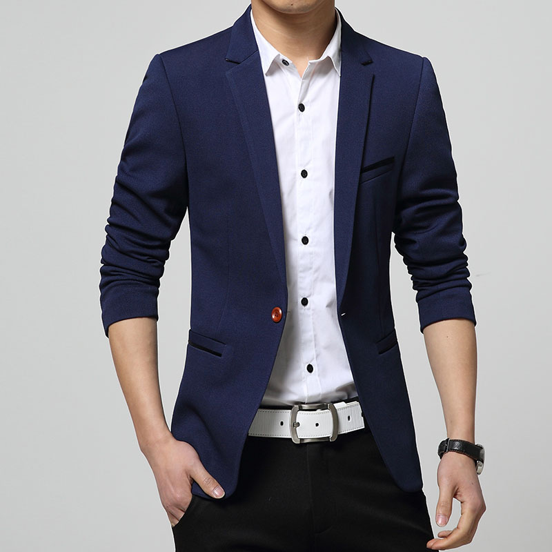 Fashion Spring Autumn Male Blazer Fashion Young Boy Blazer Leisure Jacket Slim Thin Men Coat One ...