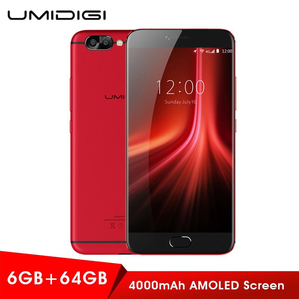 Original UMIDIGI Z1 Pro 4G Smartphone MTK6757 4000mAh 6GB+64GB Mobile Android 7.0 1080P LTE Octa Core 2.3GHz Dual Cameras Phones