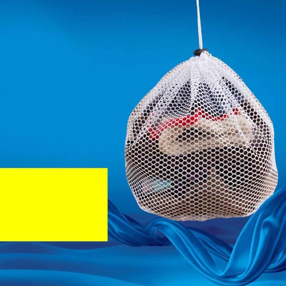 Sacos para roupa De Malha Com Cordão Bolsa para Máquina De Lavar Roupa de Lavar Roupas Lavanderia Saver Malha Net Saco de Proteção Ferramentas de Limpeza
