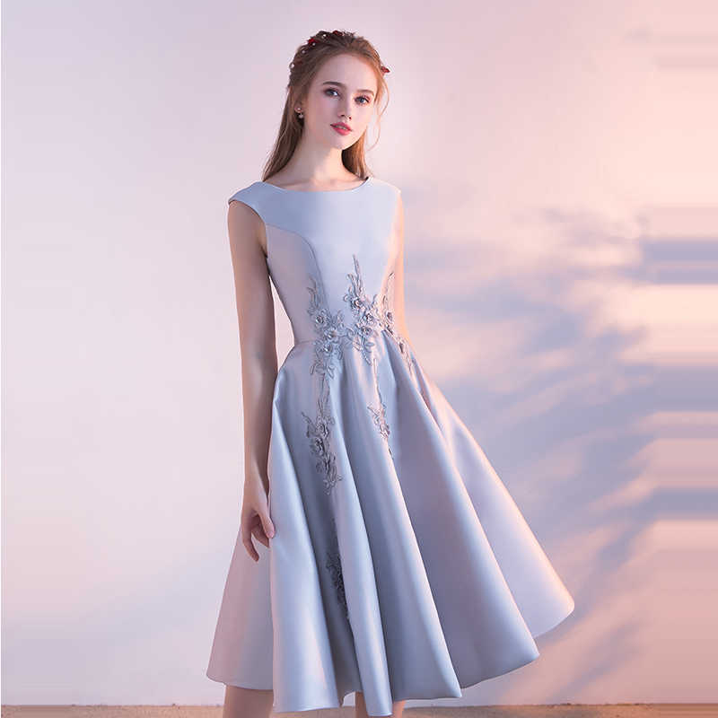 それの Yiiya ウエディングドレス 2018 ガールズ O ネックノースリーブ刺繍の花のファッションウエディングドレスパーティードレスフォーマルドレス LX903