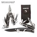 WORKPRO 3PC Camping Tool Set Multi Pliers Tactical knife Saw Bottle Opener Scissor Screwdriver Survival Tool Kits