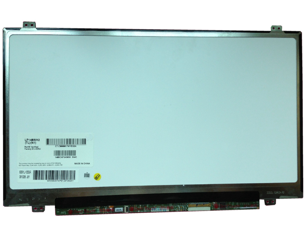 LP140WH2 TLN1 LP140WH2(TL)(N1) 14.0 SLIM LAPTOP LCD LED SCREEN PANEL 40 PIN lp140wh2 tlsa fit lp140wh2 tlp1 tlq1 tls1 tlm2 tln1 tln2 ltn140at20 led lvds 1366x768 14 0 inch slim laptop lcd screen 40 pin