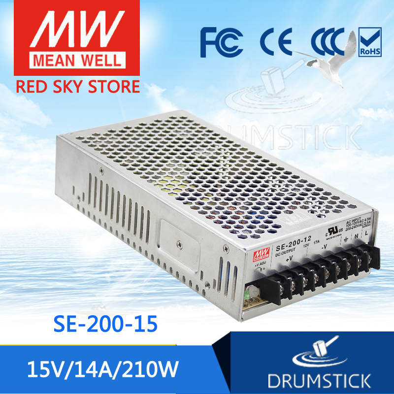 цена на Advantages MEAN WELL SE-200-15 15V 14A meanwell SE-200 15V 210W Single Output Switching Power Supply