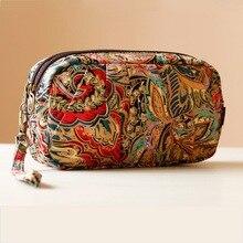 Damenmode Tageskupplungen Tasche Folk-stil Druck Handtasche Für Dame Mini Umhängetaschen Chinesischen Nationalen Tasche Handytasche TSL18-66