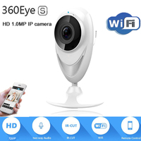 2017 New HD 720P IP Camera 1 0MP WiFi 180 Degree Panoramic Camera 360eyes IR Night