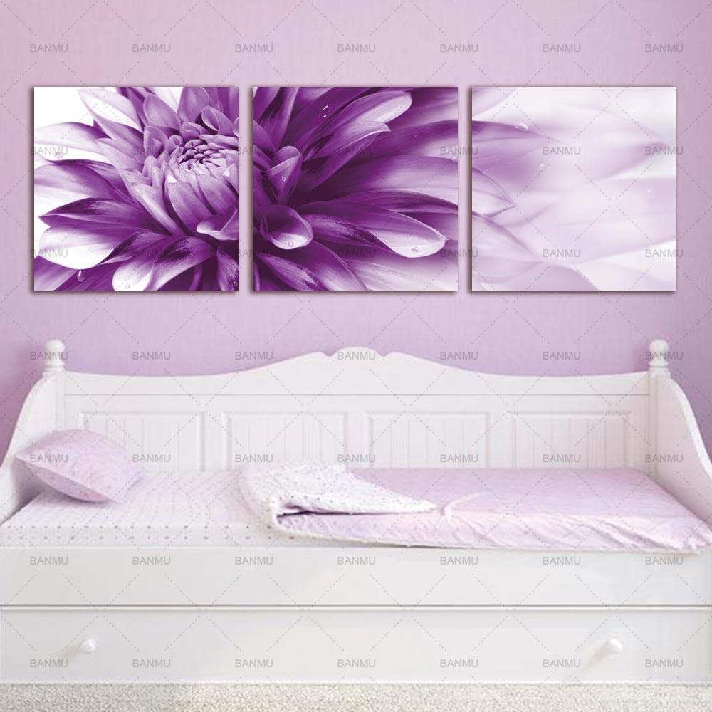Kanvas lukisan, Seni dinding bunga seni HD Giclee seni cetak di atas - Dekorasi rumah - Foto 2