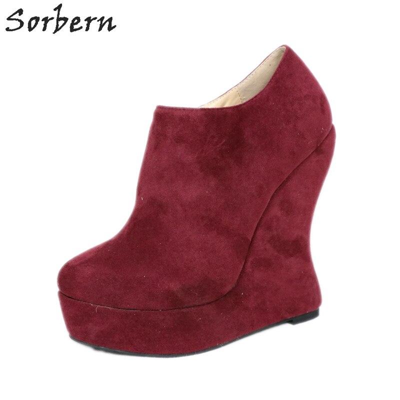 Sorbern Strange Style Heels Wedges Platform Shoes Woman Heels 16Cm Luxury Designer Heels Women Warm Casual