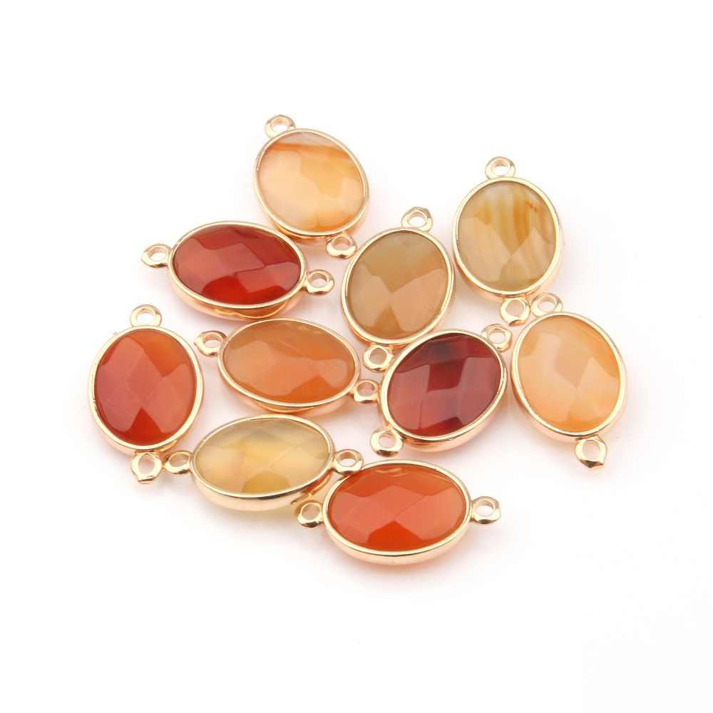 ขายส่ง Drop รูปร่างหินธรรมชาติ Rose Quartzz/Tiger Eyes จี้ DIY สำหรับสร้อยคอหรือเครื่องประดับ 16 สี