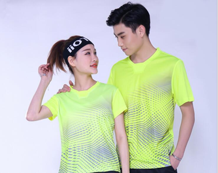 Shirts Badminton short sleeves Clothes,polyester table tennis T Shirt,Trainning tennis t-shirts,breathable ping pong Jersey Blue