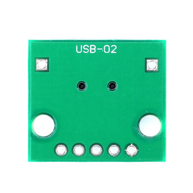251020Pcs Mini USB to DIP 2.54mm Adapter Connector Module Board Panel Female 5-Pin Pinboard 2.54mm Mini USB PCB Type Parts (5)
