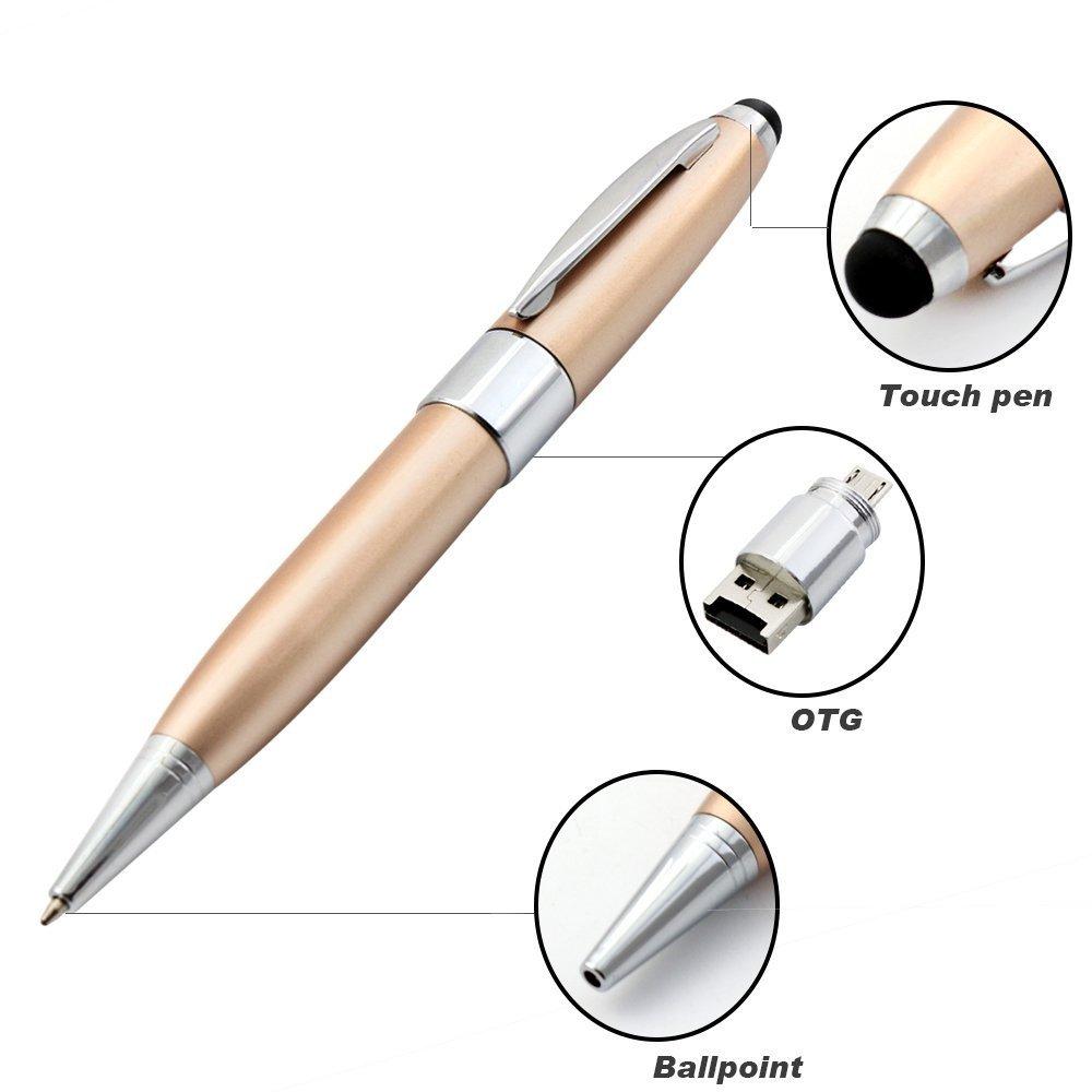 Stylus Pen Touch Screen Micro USB OTG SD Memory Card Reader Pen 3in1 Multifunction Pen Tablet Luxury Business