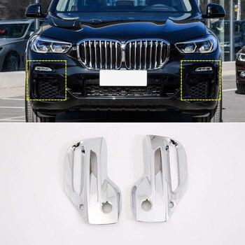 עבור BMW X5 G05 M ספורט 2019 כרום מול & אחורי ערפל אורות מסגרת כיסוי לקצץ רכב סטיילינג