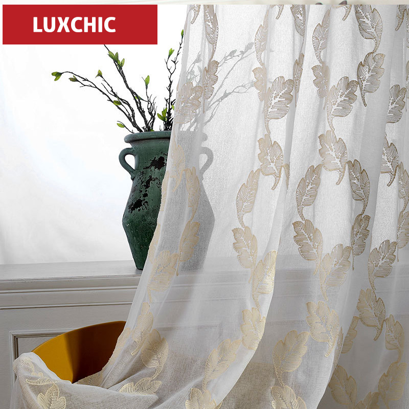 1PC Etulle Sheer Window Curtains For Living Room The Bedroom Modern Tulle Fabric Blinds Drapes