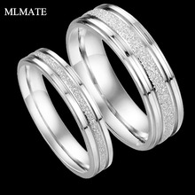 Men's  Women's New Pave Pearl Sand Titanium Steel Love Promise Valentine Couples Ring Engagement Wedding Bands Silver