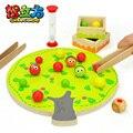 Candice guo! divertido juguete educativo de madera montessori bolas del clip colorido árbol frutal coordinación ojo-mano juguete 1 unid