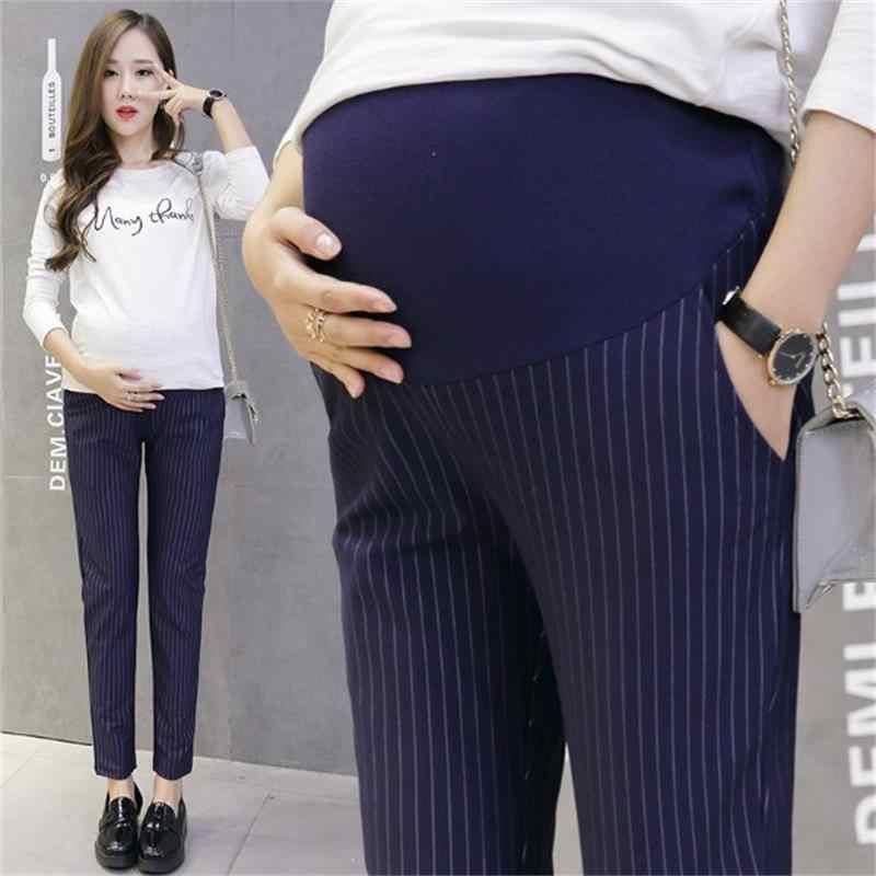 3647b23c0 ... Cintura elástica 100% algodón pantalones vaqueros de maternidad para el embarazo  ropa para mujeres embarazadas ...