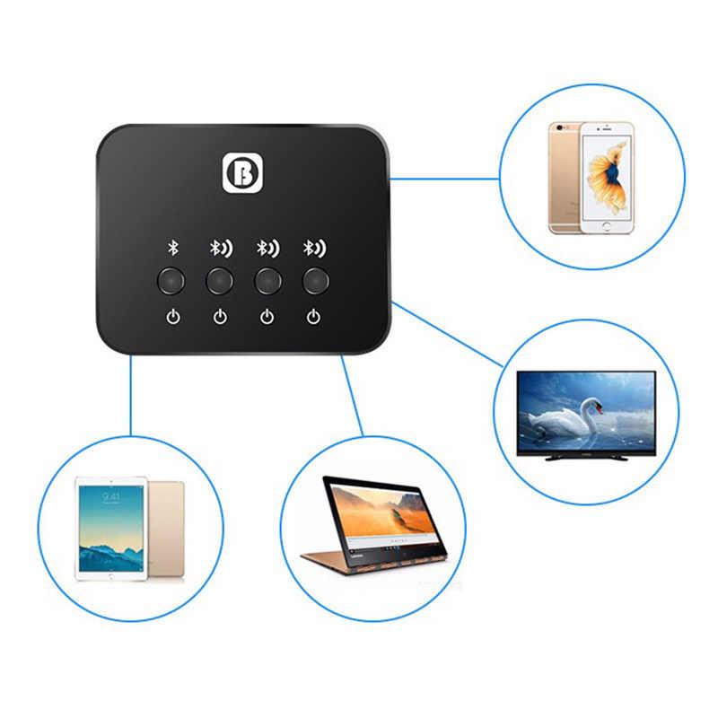 Двухканальный адаптер оптического передатчика Bluetooth многопарный 1-3 для телевизора беспроводной музыкальный аудио адаптер для наушников/колонок