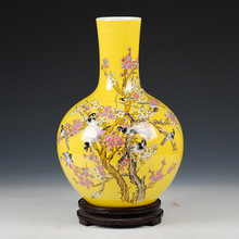 Jingdezhen ceramics antique vase Chinese style living room furnishing articles gifts home decoration arts and crafts