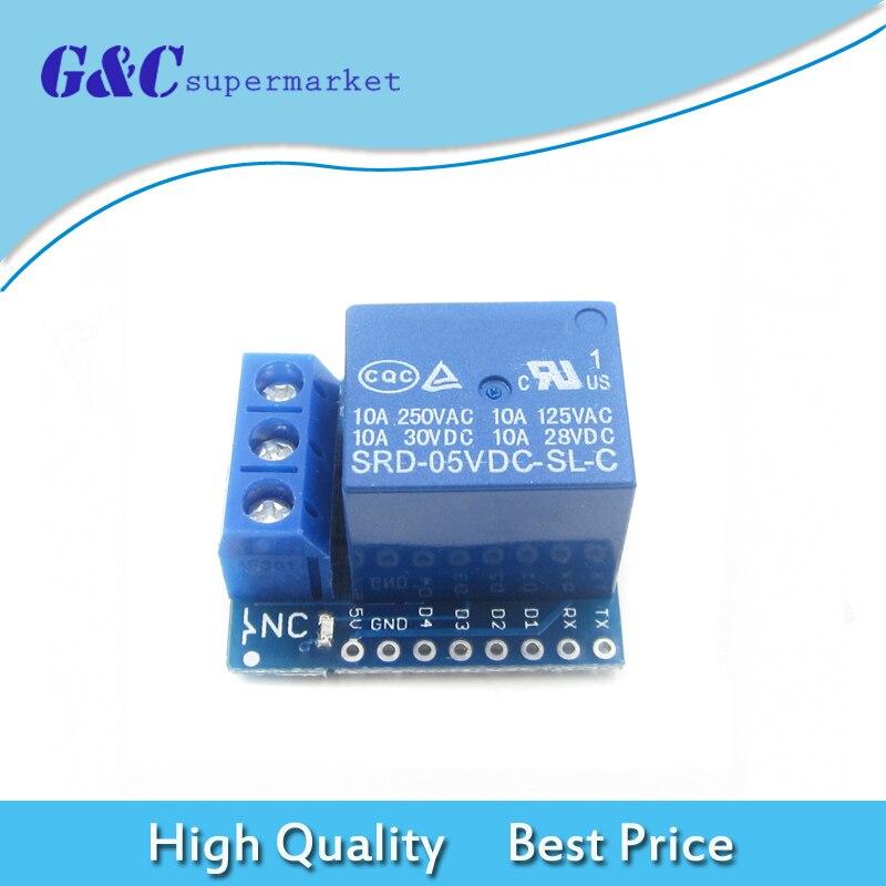 10SETS//LOT Wemos D1 Mini Relay Shield One Channel Wemos D1 Mini Relay Module for Arduino ESP8266 Development Board