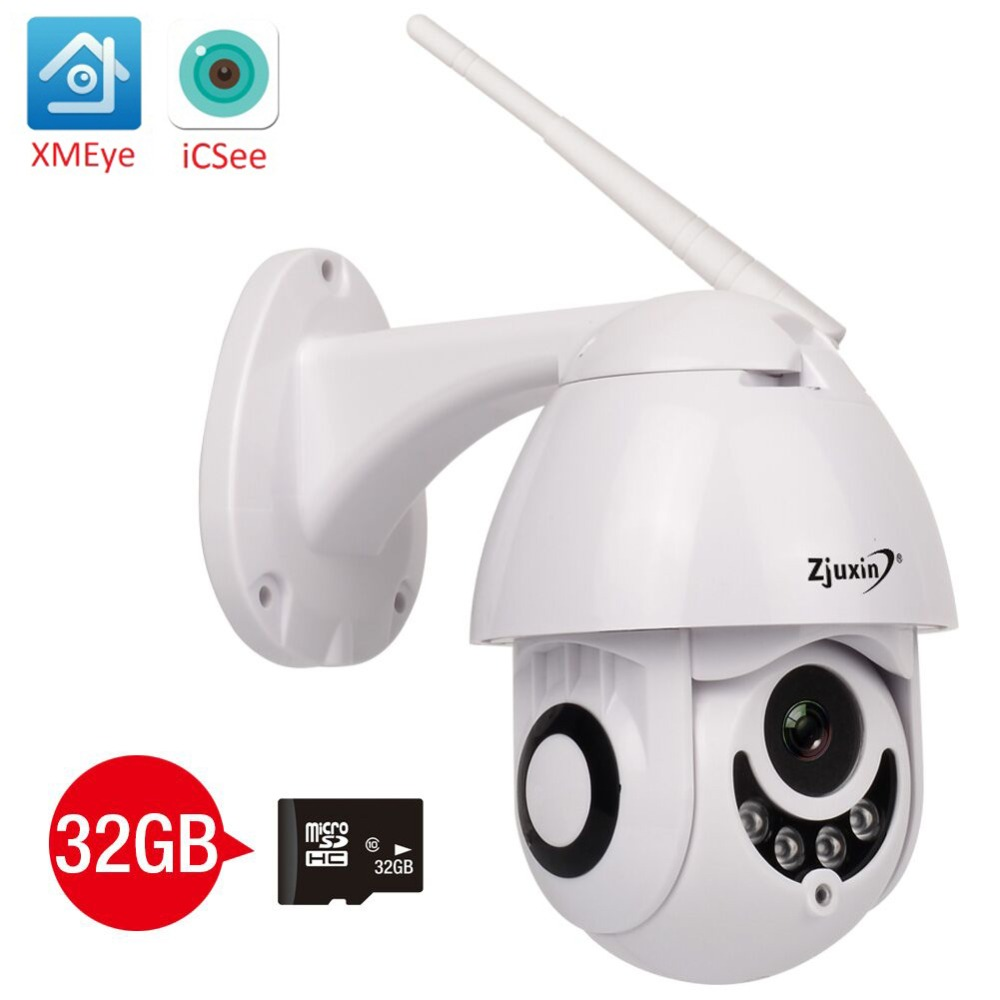 Zjuxin wireless ip camera wi-fi 1080P 2MP home surveilance camera hd outdoor 360 CCTV PTZ Onvif Security Surveillance ipCam