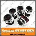 5 unids inoxidable Universal anillo de la motocicleta filtro de aire 42 MM 45 MM 48 MM 52 MM 54 MM motocicletas Yamaha Kawasaki Suzuki