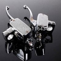 2x Universal Motorcycle Handlebar Brake Clutch Master Cylinder For 7 8 22mm CB1300 VFR800 CB1000
