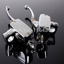 2x Universal Motorcycle Handlebar Brake Clutch Master Cylinder For 7/8″22mm CB1300 VFR800 CB1000 CB1100 VF1100 Chrome