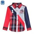 Детская одежда мальчик одежды блузки и рубашки дети бренд мальчик рубашки полный рукав рубашки мальчиков одежда осень мальчик с длинным рукавом рубашка