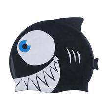 Детская силиконовая шапочка для плавания Водонепроницаемая шапка для плавания с рыбками, милая шапочка для плавания с изображением животных из мультфильмов для девочек и мальчиков