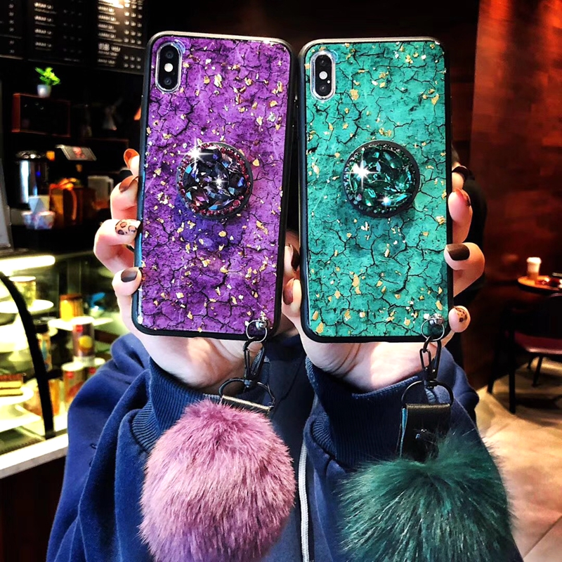 Luxury Gold Foil Bling Marble Phone Cases For Huawei Honor 8 Case Soft TPU Silicone Cover Glitter