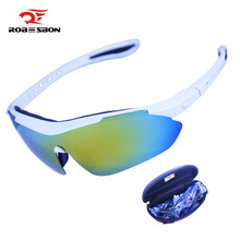 ROBESBON Polarized Cycling Eyewear Outdoor Sports Bike Bicycle Sunglasses TR90 Goggles Running Windproof Eyewear Bicycle Glasses