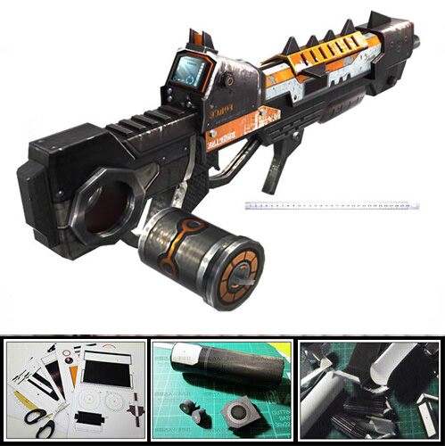 Firearms CSOL Interstellar Sci-fi Heavy Artillery Guns DIY Handmade 3D Paper Model Puzzle Toy For Cosplay