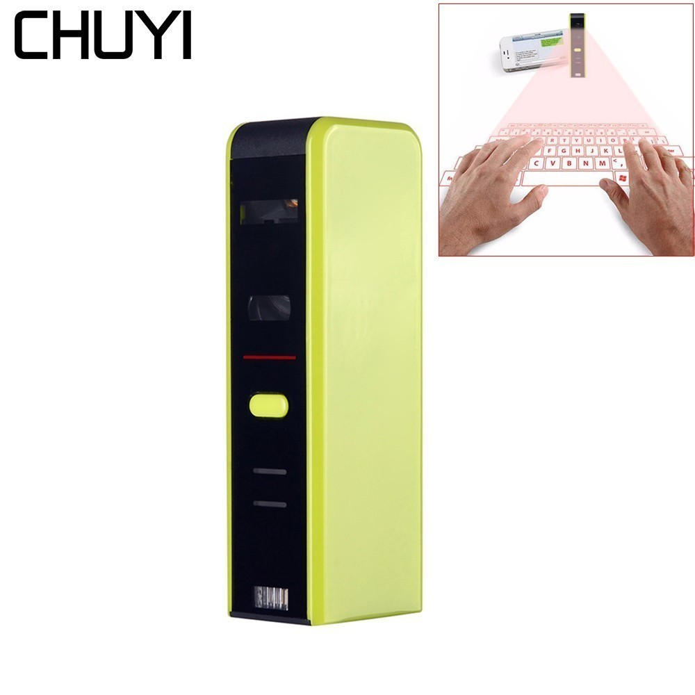 CHUYI QWERTY Bluetooth Laser Projection Wireless Virtual Keyboard For Windows Android iOS Phone Tablet chuyi virtual laser projection mini keyboard bluetooth wireless keyboard for iphone macbook air pc tablets notebook computer